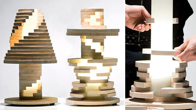 Click here to read Just Re-Stack and Twist This Lamp When You Get Bored of Its Design