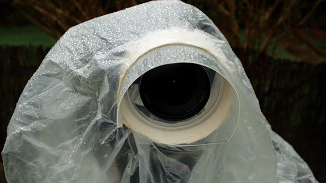 Make a DIY Rain Guard for Your Camera from an Old CD Spindle