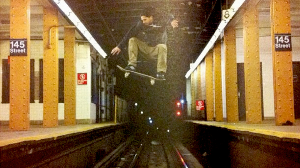 Yes, This Shot Of A Skateboarder Jumping Over A New York City Subway Track Is Real