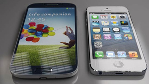 Size Comparison: Samsung Galaxy S IV vs. iPhone 5