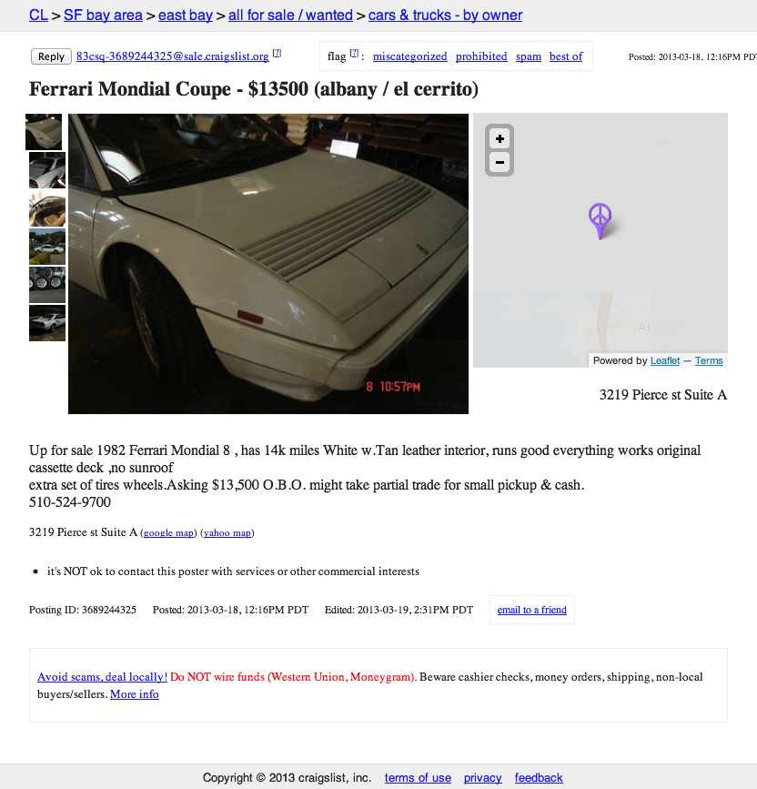For $13 500 You Can Tell People You Drive A Ferrari