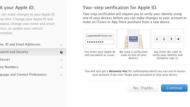 Apple Adds Two-Factor Authentication to Apple ID, Here's How to Set It Up