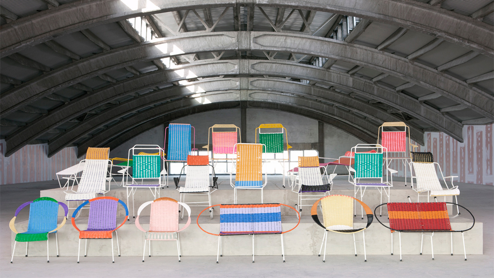 Marni Designers Have Reworked The Patterns And Colour Palettes Of Traditional Colombian Chairs Woven From PVC Threads To Create A Desirable One Off Range