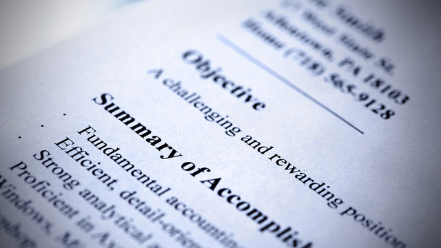 Good Wording For Resume Objective