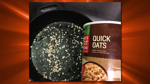 Use Oatmeal To Clean a Cast Iron Skillet