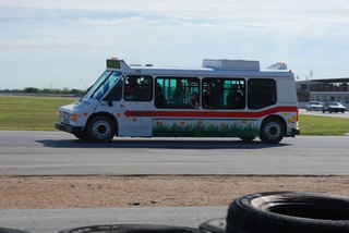 Pace Bus On The Race Track