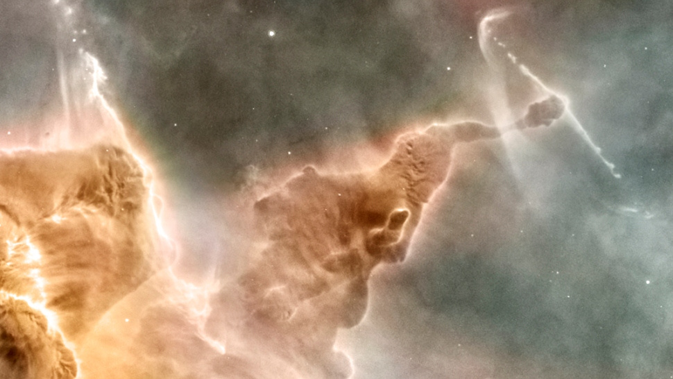 A star is taking down the Carina Nebula from the inside