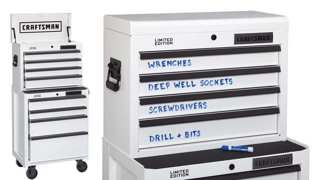 Click here to read You'll Never Hunt For a Tool With Craftsman's Whiteboard Toolbox