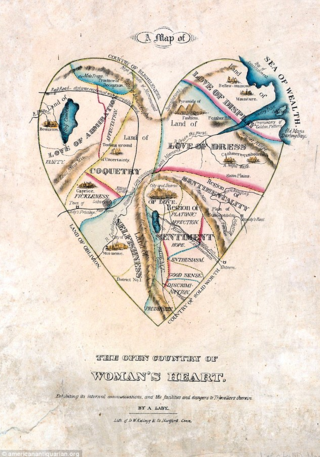 19th Century Map Of A Woman's Heart Definitely Drawn By Cynical Dude