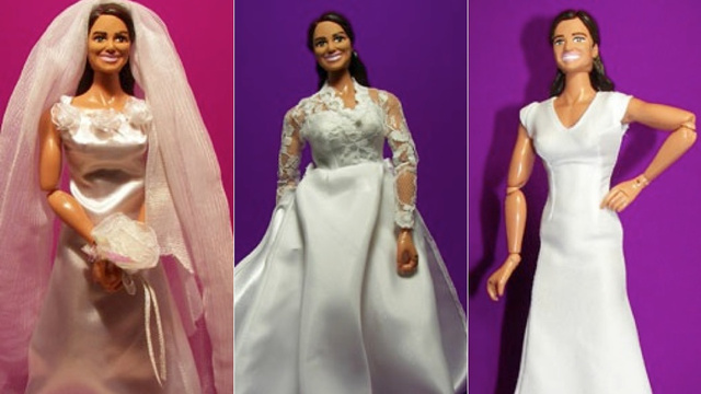 Relive The Royal Wedding With Horribly Disfigured Pippa & Kate Middleton Dolls