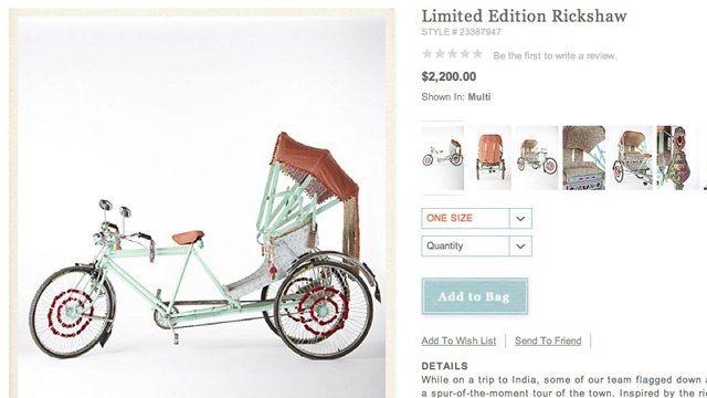 Ponder The Class Struggle While Cruising In Your $2,200 Anthropologie Rickshaw