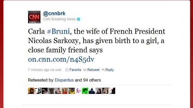 Carla Bruni Sarkozy Gives Birth To Baby Girl