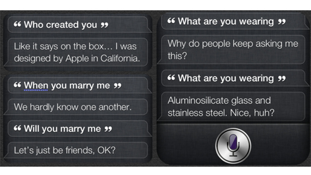 iPhone's Siri Forced To Field Awkward Questions