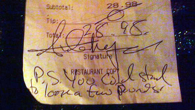 Awful Restaurant Customer Leaves Worst Kind Of Tip