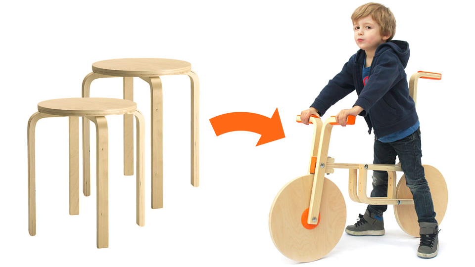 Turn Some Boring Stools Into a Pint-sized Scooter With This
