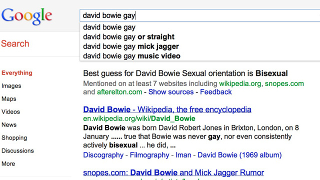 Google Introduces New Celebrity Gaydar Feature