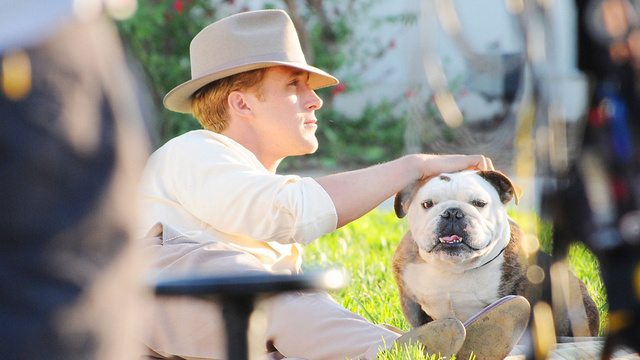And Now A Retro Daydream Starring Ryan Gosling, Emma Stone & A Bulldog