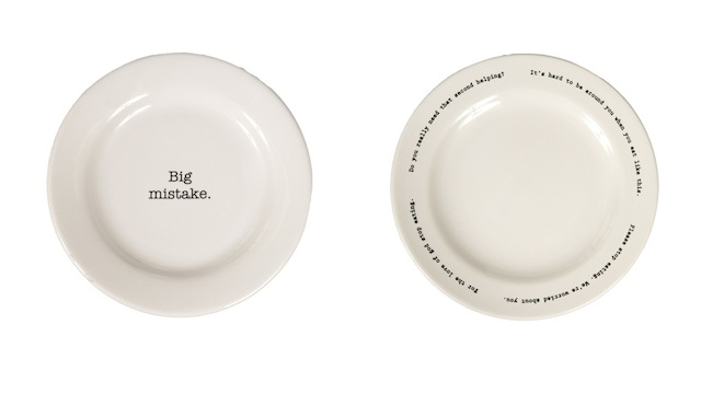 What, You Don't Think These Creepy Fat-Shaming Plates Are Funny?