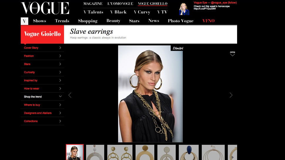 Italian <em>Vogue</em> Features Unbelievably Racist 'Slave Earrings' [Updated]