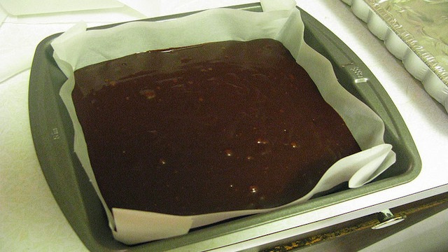 Line Your Baking Pan with Parchment Paper for Easy Brownie Removal