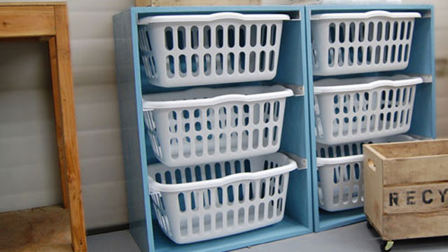 Tame Your Laundry Chaos with a DIY Laundry Basket Dresser