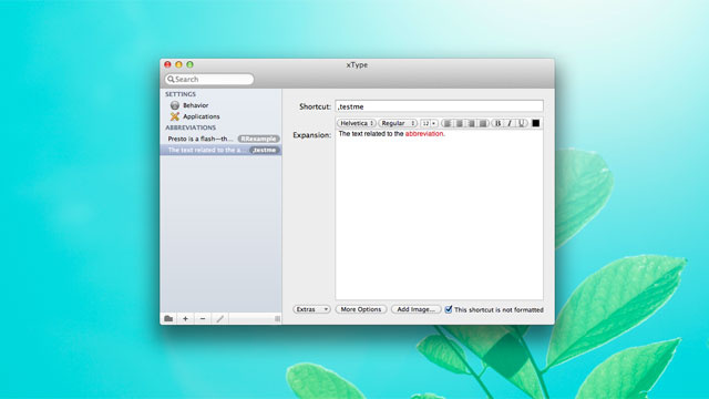xType Is a Simple, Free Text Expansion Tool for the Mac
