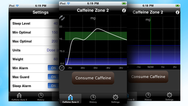 Caffeine Zone 2 Tracks Your Caffeine Usage and Tells You if Another Cup Will Do Any Good
