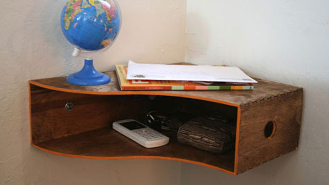 Turn a Magazine Holder into a Corner Shelf