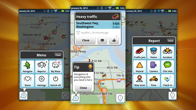 Waze for Android Updates, Adds New Maps, Driver-Friendly UI, and More Social Features
