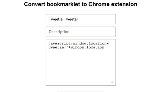 Convert a Bookmarklet to a Chrome Extension with a Few Clicks
