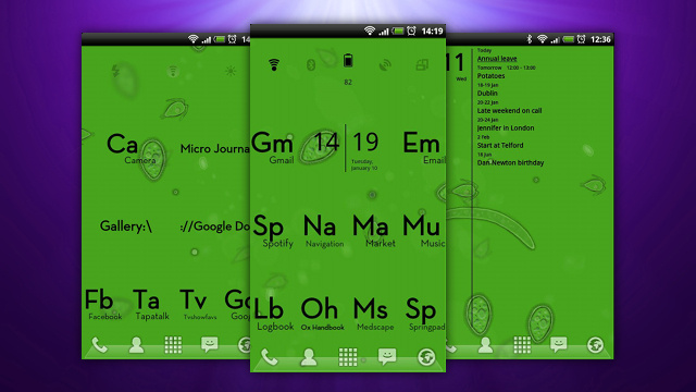 The Science Nerd Home Screen