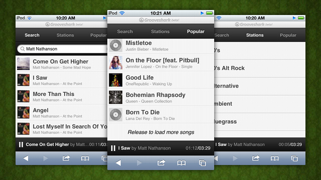 Grooveshark's New HTML5 Mobile Webapp Streams Music to Your Smartphone for Free