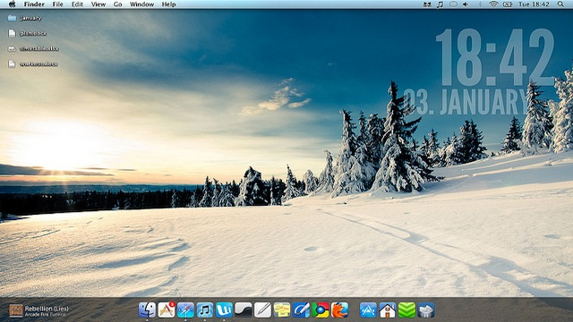 The Snow Drift Desktop