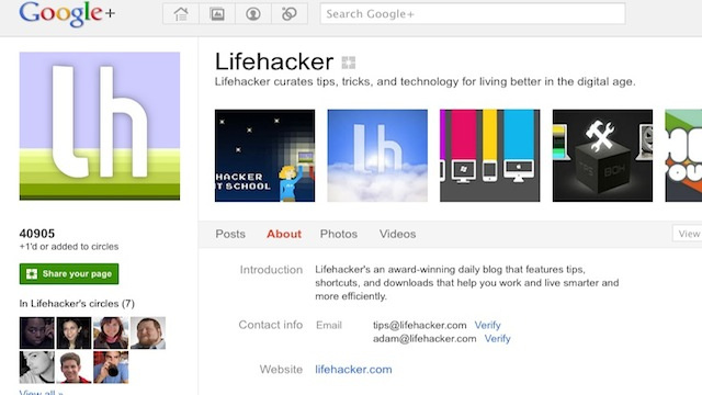 Add Lifehacker and Our Writers to Your Circles on Google+ for Our Top Stories and More Your News Stream