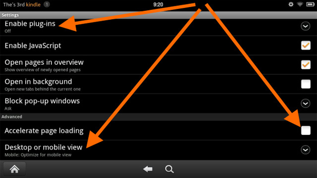 Increase the Speed of Kindle Fire's Silk Browser