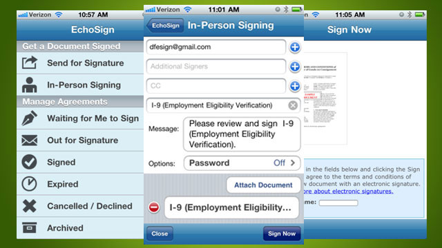 EchoSign Brings Legally-Binding Electronic Signing on Your iPhone or iPad