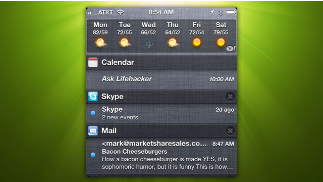 Use iOS' Notification Center as a Quick App Launcher