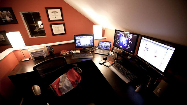 The Warm Attic Workspace