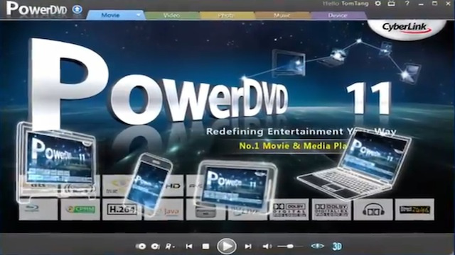 Most Popular Blu-Ray Playback Suite: Cyberlink PowerDVD