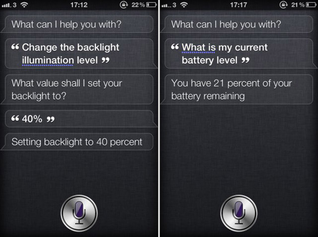 Make Siri Change Your iPhone 4S Settings, Read Battery Level