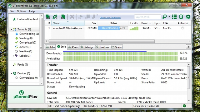 uTorrent Updates with Minor Improvements, Releases a Premium Version with Video Encoding and Remote Downloading