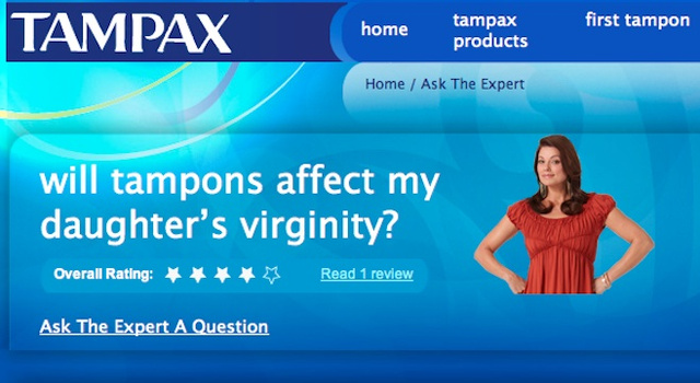 Adult Still Thinks Tampons Deflower Girls
