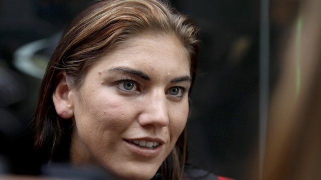"Hope Solo ""Hints"" That She'll Pose Nude"