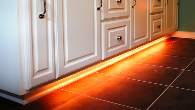 Add Rope Lighting Under Your Bathroom Cabinets and Never Stub Your Toe Again