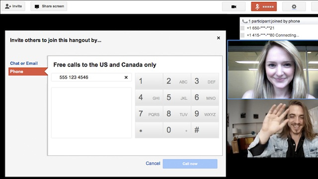 Google+ Hangouts Now Feature Free Voice Calls
