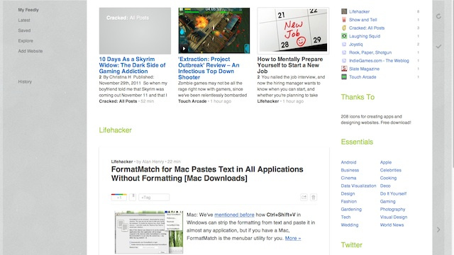 Feedly Updates with Tagging, Infinite Scroll, and New Views