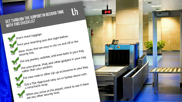 Get Through the Airport in Record Time with This Checklist