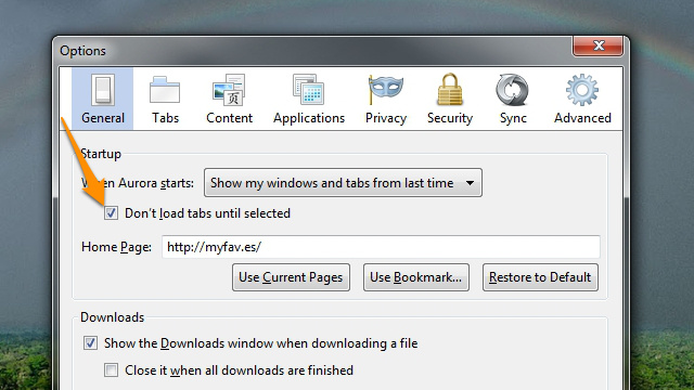 Make Firefox Start Quicker by Only Loading Tabs as You Use Them