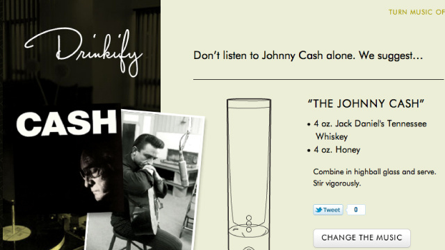 Drinkify Recommends Cocktail Recipes for Any Music