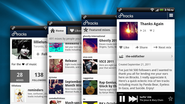 8tracks Brings User-Created Playlists and Music Discovery to Your Android Phone